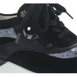 Waldläufer Hiroko, Sneaker, Velour/Sesa/Glitter, deepblue / notte, Weite H 364027-302-763