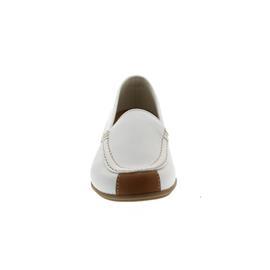 Gabor Slipper, Best-Fitting, Cervo/Vacchetta, weiss / cognac, Wechselfussbett Weite F 83.260.21