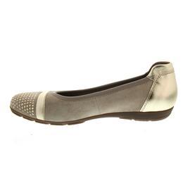Gabor Ballerina, Velour/Luxor Met., silk / light gold, Hovercraft-Sohle, Weite F 84.167.12