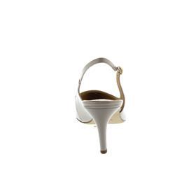 Högl Sling, Dorelack-Leder, cotton (beige), 60mm Absatz 106805-0800