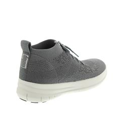 FitFlop Uberknit Slip-On High Top Sneaker, Charcoal / Metallic Pewter (grau) J30-551