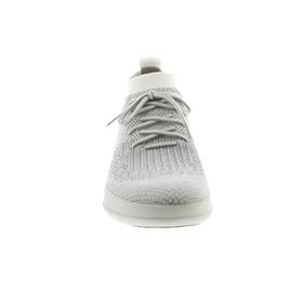 FitFlop Uberknit Slip-On High Top Sneaker, Metallic Silver / Urban White J30-567