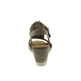 Gabor Sandalette, Samtchevreau, visone (beige) 45mm Keil, Weite F 85.751.13