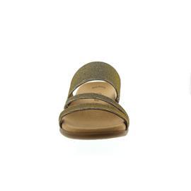 Gabor Pantolette, Effekt Metallic HT, platino, Weite F, Best-Fitting 83.703.62