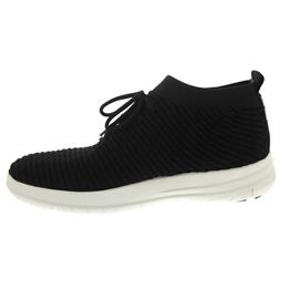 Fitflop Uberknit Slip-On High Top Sneaker, Waffle Knit, Black J50-001