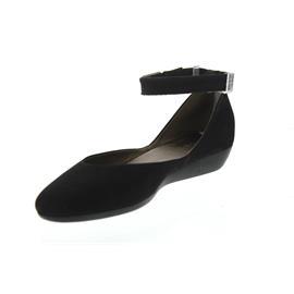 Arche Onyma, Ballerina, Nubuk (Belusa dbl cuir), Noir/bronze, Latexsohle