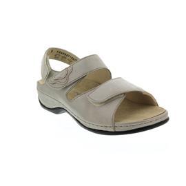 Berkemann Rina, Sandale, beige/silber, Leder/Stretch, Wechselfußbett, Weite E-H 1040-627