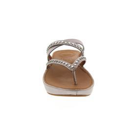 FitFlop Linny Criss Cross Toe-Thong Sandals, Blush / Metallic Nude K45-549