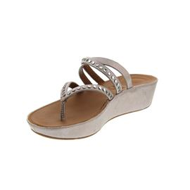 FitFlop Linny Criss Cross Toe-Thong Sandals, Blush / Metallic Nude K45-549