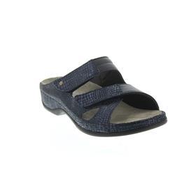 Berkemann Janna, blau Met. Leder / blau Stretch, Pantolette Weite E-H 1027-382