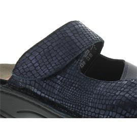 Berkemann Heliane, blau metallic Leder / blau Stretch, Clog, Weite G-I 3457-382