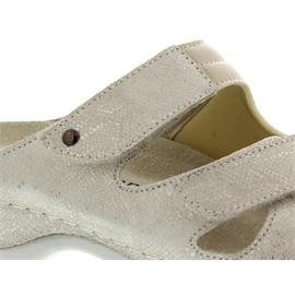 Berkemann Janna, gold Schla. Leder / beige Stretch, Pantolette, Weite E-H 1027-605