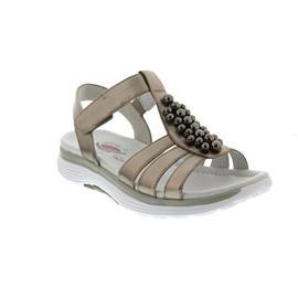 Gabor Rollingsoft Sandale, Idra metallic, mutaro (Perlen), Klettverschluss 86.912.83