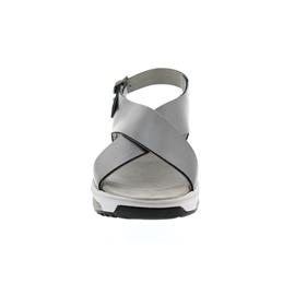 Xsensible Corfu, Glattleder (Metallic), Old Silver (grau), Vario-Fussbett, Weite G 30036.5.903