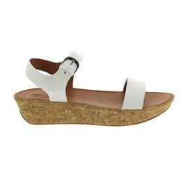 FitFlop Bon II Back-Strap Sandals - Leather Urban White K25-194