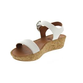 FitFlop Bon II Back-Strap Sandals - Leather Urban White K25-194