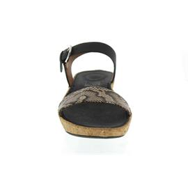 FitFlop Bon II Back-Strap Sandals-Snake Print Leather Mix, Taupe Snake/Black K24-586