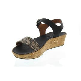FitFlop Bon II Back-Strap Sandals-Snake Print Leather Mix, Taupe Snake/Black K24-586