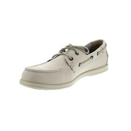Sebago Litesides Two Eye, Full Grain Leather Tumbled, White 7000070-911 Man