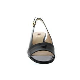 Högl Sandalette, Softlack-Leder, schwarz 40mm Absatz 102104-0100