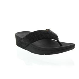 FitFlop Ritzy Toe-Thong Sandals, Black L23-001