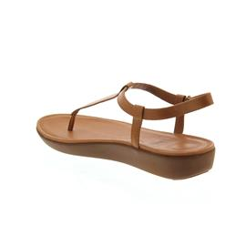 FitFlop Tia Toe-Thong Sandals-Leather, Caramel L36-098