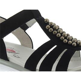 Gabor Rollingsoft Sandale, Samtchevreau, pazifik (Perlen), Klettverschluss 86.912.26