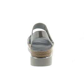 Gabor Sandalette, Glamour Samt, stone (grau), Best-Fitting, Weite F 83.728.69