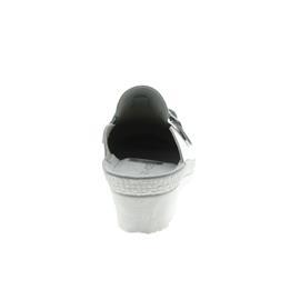 Rohde Neustadt, Damen-Pantolette, Glattleder, weiß, Weite G, 50mm Keilabsatz 1473-00