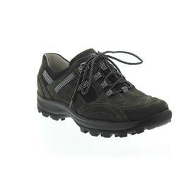 Waldläufer Holly, Outdoor-Schnürschuh, carbon/schwarz, Nubukleder, Weite H 471008-201-696