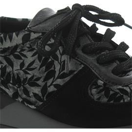 Waldläufer Hiroko-Soft, Sneaker, Nubuk/Lack/Stretch kombi., schwarz/carbon, Weite H H64001-313-991