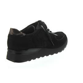 Waldläufer Hiroko-Soft, Sneaker, Nubuk / Stretch kombi., schwarz/anthrazit, Weite H H64001-426-771