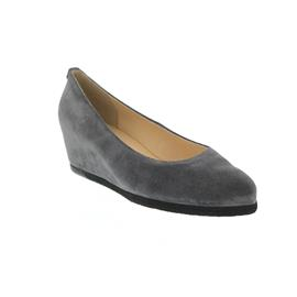 Högl Keilpumps, Casualvelour-Leder, darkgrey 104202-6600
