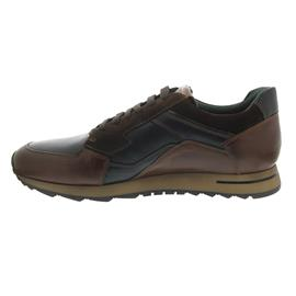 Galizio Torresi Sneaker, Foulard Seta (Glatt-/Velourled.), nougat/navy/cacao, Wechselfußb. 315980