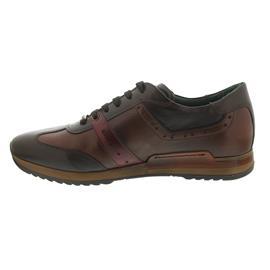 Galizio Torresi Sneaker, Foulard Indio (Glattleder), noce / nougat / corallo, Wechselfußbett 318188