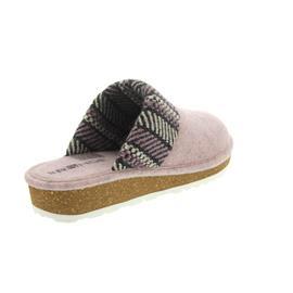 Rohde Damen Pantolette, Softfilz / Strick, rose, Weite G 6570-44
