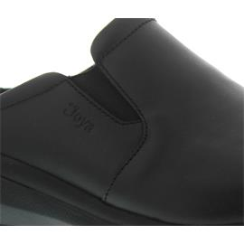 Joya Cabrio II W Black, Full-Grain Leather / Textile, Emotion-Sohle, Clog 752cas