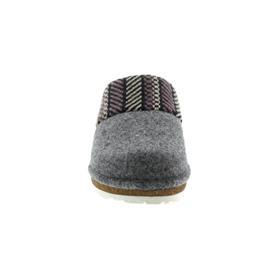 Rohde Damen Pantolette, Softfilz / Strick, grau, Weite G 6570-80