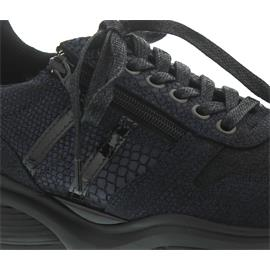 Xsensible SWX3 - Lady, Sneaker, Stretch-Leather, Navy Metal, Vario-Fussbett, Weite HX 30070.2.249