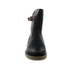 Waldläufer Hoja, 2X Houston (Glattleder), schwarz / cognac, echt Lammfell, Weite H 533913-201-594