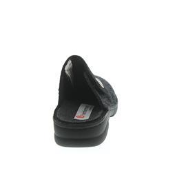 Berkemann Donella, schwarz / grau, Filz, Klettverschluss, Wechselfußbett 3526-062