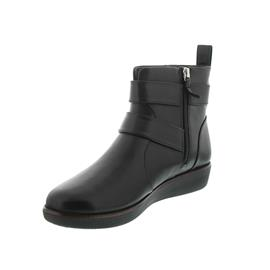 FitFlop Laila Double Buckle, Bootie, Black, Leather, Reißverschluss N79-001