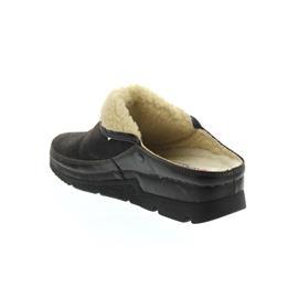 Berkemann Remonda Clog, dunkelbraun, Doubleface, Fußbett aus Schurwolle, Weite G 1152-491
