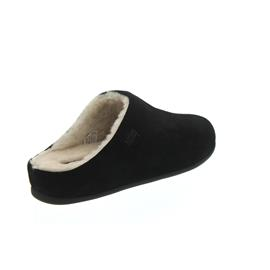 FitFlop Chrissie Sherling, Black, Suede, Slipper, Schurwollfutter N28-001
