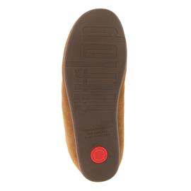 FitFlop Chrissie Sherling, Tumbled Tan, Suede, Slipper, Schurwollfutter N28-645