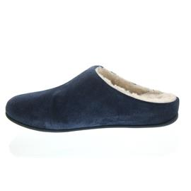FitFlop Chrissie Sherling, Midnight Navy, Suede, Slipper, Schurwollfutter N28-399