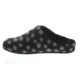 FitFlop Chrissie Dots, Charcoal (grau), Wool, Slipper, Schurwollfutter N22-052