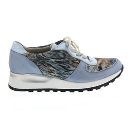 Waldläufer Hiroko-Soft, Sneaker, Glattleder / Stretch kombi., sky / notte, Weite H H64001-320-267