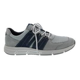 Waldläufer Haslo, Nubuk / Mesh, stein / grau /blau, Weite H 323004-408-480