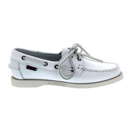 Sebago Docksides, Full-Grain Leather, White, Women 7000530-911